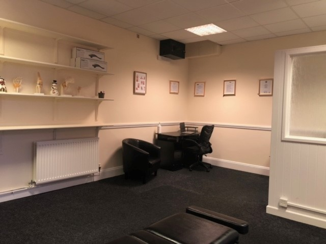Inside the chiropractic clinic desk